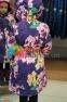 Пальто демисезонное для девочки Huppa LUISA 12430010, цвет 91373 7