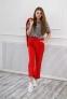 Трикотажный костюм для девочки Filatova, цвет красный 3