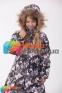 Пальто-пуховик зимний для девочки Huppa PARISH, цвет white pattern 81020 2