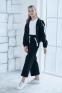 Трикотажный костюм для девочки Filatova, цвет черный 3