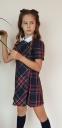 Школьное платье для девочки Wellkids, цвет красная клетка 0
