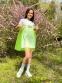 Летнее платье-сарафан для девочки Lukas арт. 0140, цвет лимонный 0