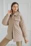 Стеганная куртка-рубашка Filatova, цвет кофейный 0