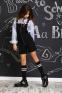Школьный комбинезон для девочки Baby angel 1289, цвет черный 4