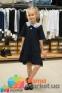 Школьное платье MONE 1618-2 с кружевным воротничком, цвет синий 3