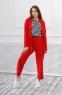 Трикотажный костюм для девочки Filatova, цвет красный 5
