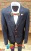 Классический школьный костюм для мальчика Lilus 217/2, цвет синий с красной отстрочкой 1