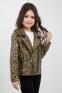Осенне-весенняя курточка-косуха для девочки Suzie Дилана, цвет горчичный 1