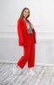 Трикотажный костюм для девочки Filatova, цвет красный 7