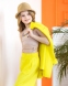 Льняной брючный костюм для девочки-подростка Wellkids, цвет желтый 1