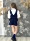 Юбка-шорты для девочки Wellkids, цвет серая клетка 0