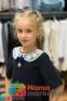 Школьное платье MONE 1618-2 с кружевным воротничком, цвет синий 6