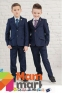 Классический школьный костюм для мальчика Lilus 217/2, цвет синий с красной отстрочкой 0