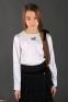 Школьная юбка MONE 1282-2 гофре, цвет синий 1