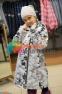 Пальто демисезонное для девочки Huppa LUISA 12430010, цвет 91348 4