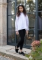 Школьные брюки для девочки Sly 406B/S/19, цвет синий 1