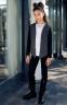 Школьный жакет для девочки Sly 504C/S/19 цвет серый меланж 1