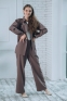 Подростковый костюм-двойка с брюками палаццо Filatova, цвет кофейный 0