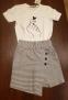 Летние юбка-шорты для девочки Filatova, цвет полоска 1