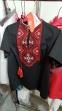 Трикотажная футболка-вышиванка Олесь, цвет черный 1
