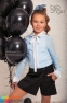 Юбка-шорты из костюмной ткани Baby angel 958, цвет черный 3