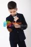 Вельветовый костюм для мальчика Lilus модель 10, цвет синий 4