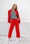 Трикотажный костюм для девочки Filatova, цвет красный 0