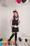 Юбка-шорты из костюмной ткани Baby angel 958, цвет черный 5
