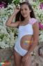 Купальник сдельный BAEL Пион, цвет белый 4