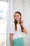 Летняя футболка для девочки Filatova Девочка, цвет белый 1