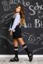 Школьный комбинезон для девочки Baby angel 1289, цвет черный 3