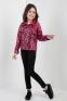 Осенне-весенняя курточка-косуха для девочки Suzie Дилана, цвет малиновый 1