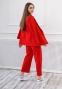 Трикотажный костюм для девочки Filatova, цвет красный 1