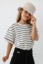 Летняя футболка девочки Suzie Бриджит, цвет молочный 4