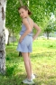 Летний комбинезон для девочки Lukas 0172, цвет серая полоска 1