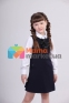 Школьное платье Lukas 4208, цвет синий 1