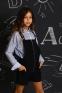 Школьный комбинезон для девочки Baby angel 1289, цвет черный 0