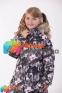 Пальто-пуховик зимний для девочки Huppa PARISH, цвет white pattern 81020 1