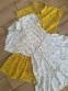 Летнее платье для девочки Filatova, цвет горчичный 1