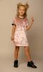 Бархатное платье  Baby Angel 1253, цвет пудровый 1