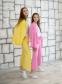 Трикотажный костюм для девочки Filatova, цвет желтый 6