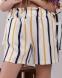 Летний деловой костюм-двойка для девочки Babylife, цвет желтая полоска 3