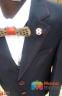 Классический школьный костюм для мальчика Lilus 217/2, цвет синий с красной отстрочкой 4