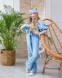 Летний костюм для девочки Wellkids, цвет голубой 0