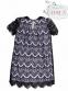 Шикарное платье MONE 1192-3 с французским кружевом, цвет черный 0