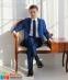 Классический школьный костюм для мальчика Lilus 217/2 цвет 1405, цвет синий 1