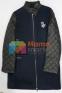 Стильное кашемировое пальто для девочки Baby Angel 698, цвет темно-синий 1