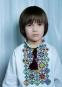 Льняная вышиванка для мальчика Мозаика, цвет белый 0