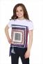 Летняя футболка с атласной вставкой Lukas 9151 0