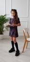 Школьное платье для девочки Wellkids, цвет красная клетка 1